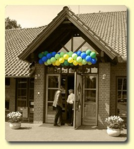 Ballongirlande für Eröffnung