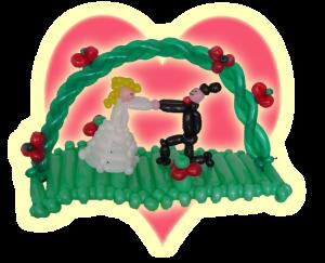Brautpaar aus Modellierballons