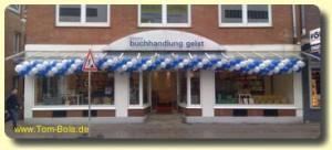 Luftballongirlande für Geschäftseröffnung Bremen